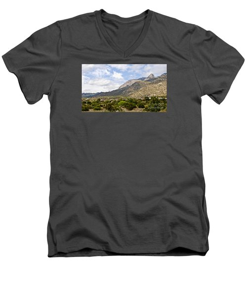 Sandia Mountains Men's V-Neck T-Shirt by Gina Savage