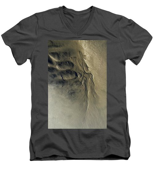 Sandscape 1 Men's V-Neck T-Shirt by Newel Hunter