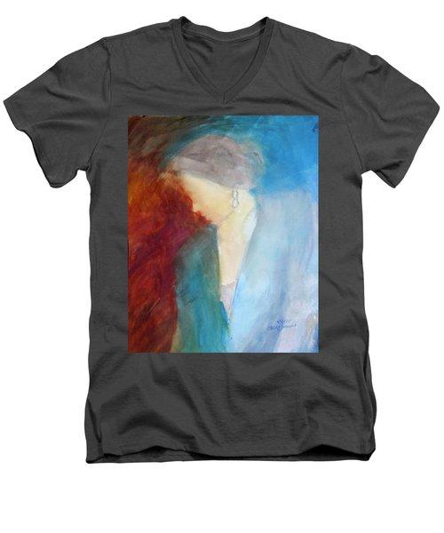 Sarah's Blue Suit Men's V-Neck T-Shirt