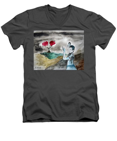 Scott Weiland - Stone Temple Pilots - Music Inspiration Series Men's V-Neck T-Shirt by Carol Crisafi