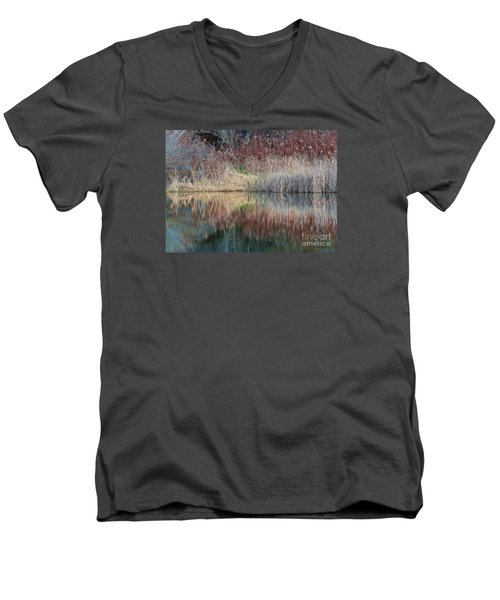 Men's V-Neck T-Shirt featuring the photograph Seasons Edge by Christian Mattison