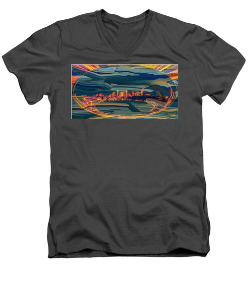 Seattle Swirl Men's V-Neck T-Shirt