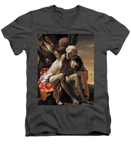 Sebastian Tended By Irene Men's V-Neck T-Shirt