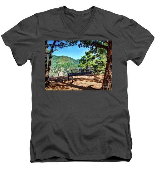 Men's V-Neck T-Shirt featuring the photograph Secret Place by Deborah Klubertanz