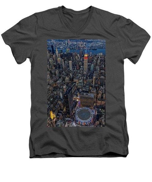 September 11 Nyc Tribute Men's V-Neck T-Shirt