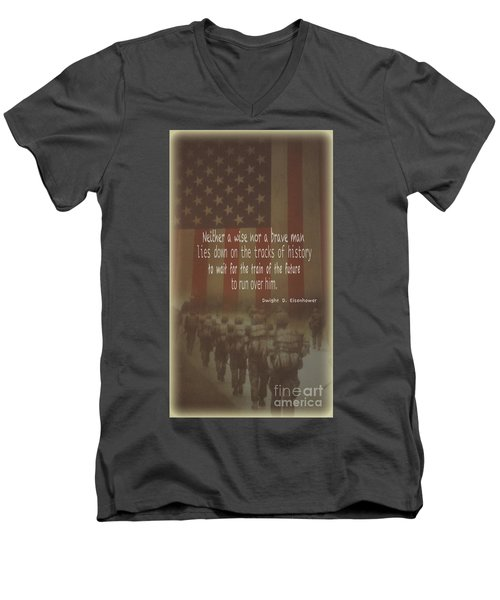 Men's V-Neck T-Shirt featuring the photograph Serving Our Country by Debby Pueschel
