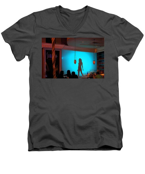 Men's V-Neck T-Shirt featuring the photograph Shadow On The Wall by Viktor Savchenko