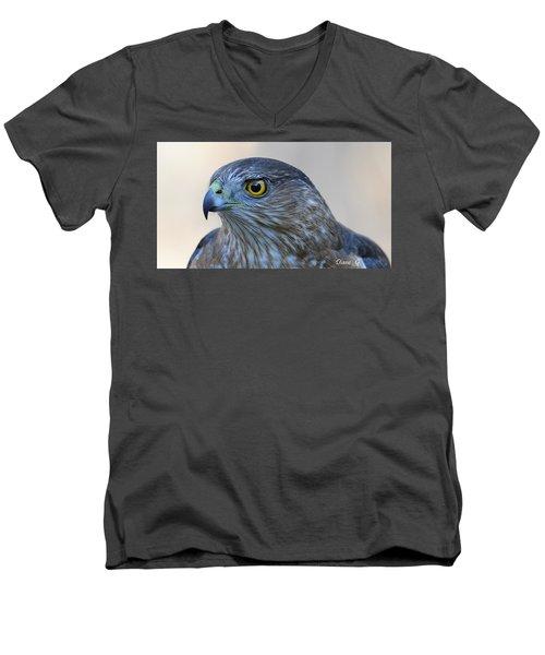 Sharp-shinned Hawk Men's V-Neck T-Shirt by Diane Giurco