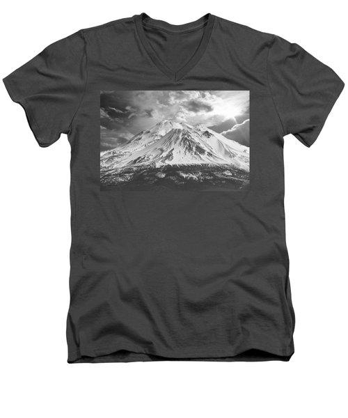 Men's V-Neck T-Shirt featuring the photograph Shasta by Athala Carole Bruckner