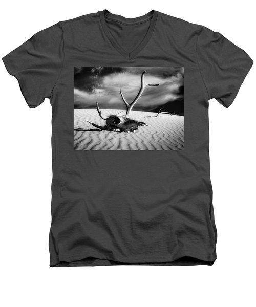 Skull And Antlers Men's V-Neck T-Shirt