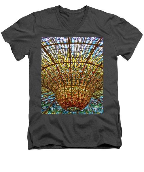 Skylight In Palace Of Catalan Music  Men's V-Neck T-Shirt