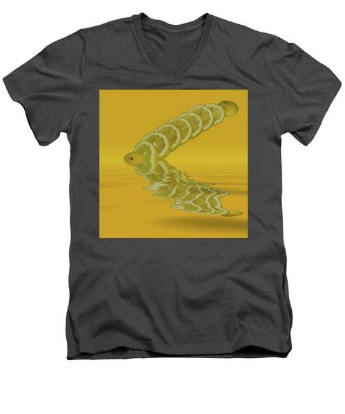 Men's V-Neck T-Shirt featuring the photograph Slices Lemon Citrus Fruit by David French