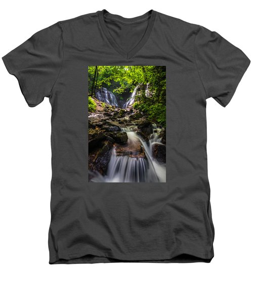 Soco Falls Men's V-Neck T-Shirt by Serge Skiba