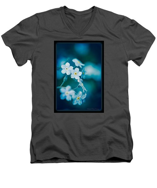Soft Blue Men's V-Neck T-Shirt
