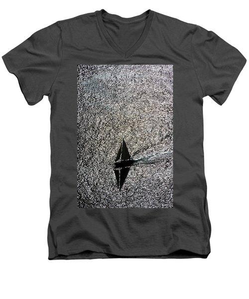 Sailing Into Solitude Men's V-Neck T-Shirt