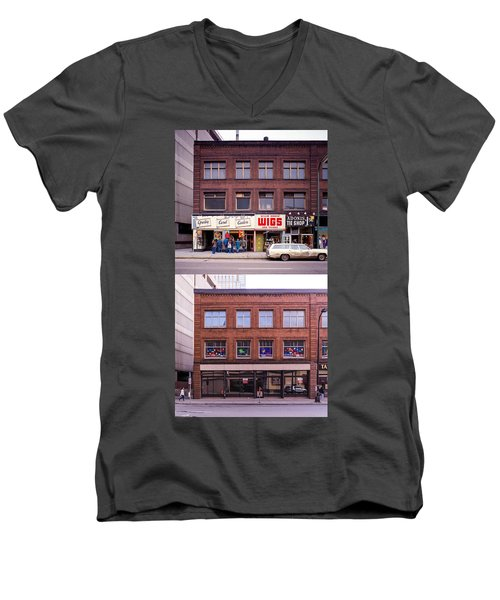 Something's Going On At The Greeting Card Center. Men's V-Neck T-Shirt