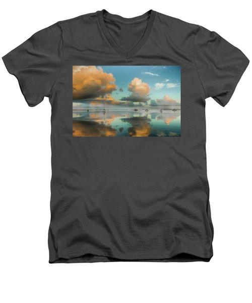 Sound Of Silence Men's V-Neck T-Shirt