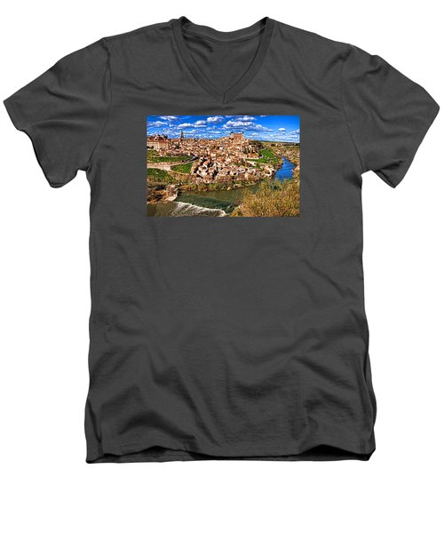 Spanish Toledo Men's V-Neck T-Shirt by Dennis Cox WorldViews