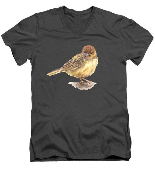 Sparrow Men's V-Neck T-Shirt by Katerina Kirilova