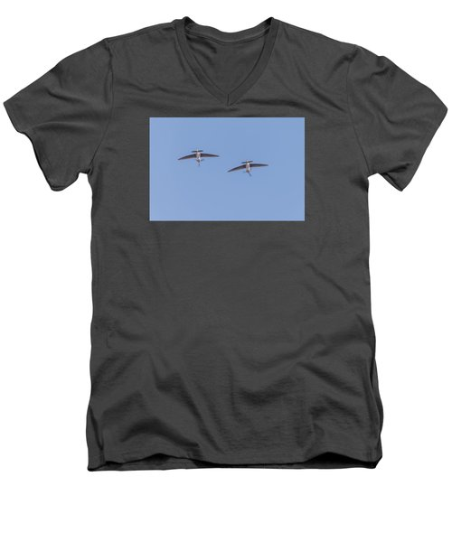 Spitfires Loop Men's V-Neck T-Shirt by Gary Eason