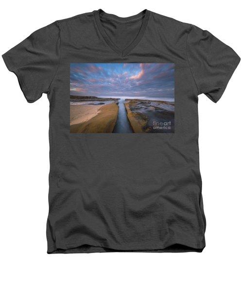Where Worlds Divide  Men's V-Neck T-Shirt