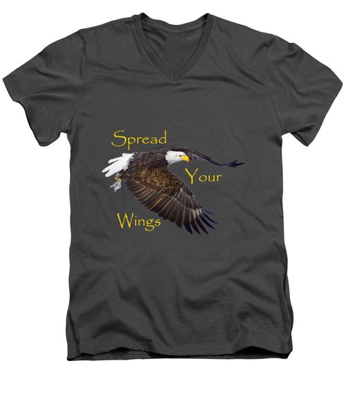 Spread Your Wings Men's V-Neck T-Shirt by Greg Norrell