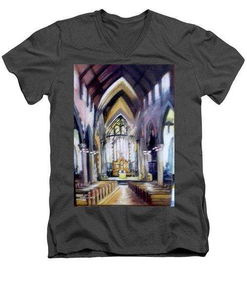 St Johns Cathedral Limerick Ireland Men's V-Neck T-Shirt