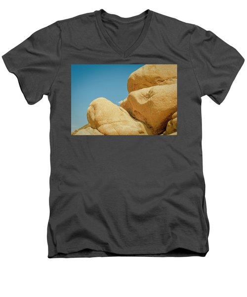 Stacked Boulders Joshua Tree Men's V-Neck T-Shirt
