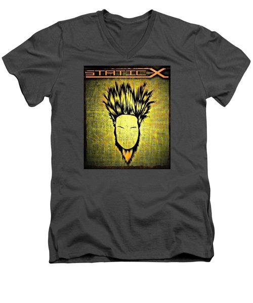 Static-x Men's V-Neck T-Shirt