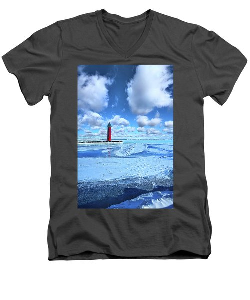 Men's V-Neck T-Shirt featuring the photograph Steadfast by Phil Koch
