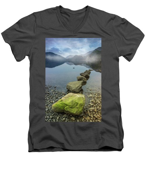 Stepping Stones Men's V-Neck T-Shirt by Ian Mitchell