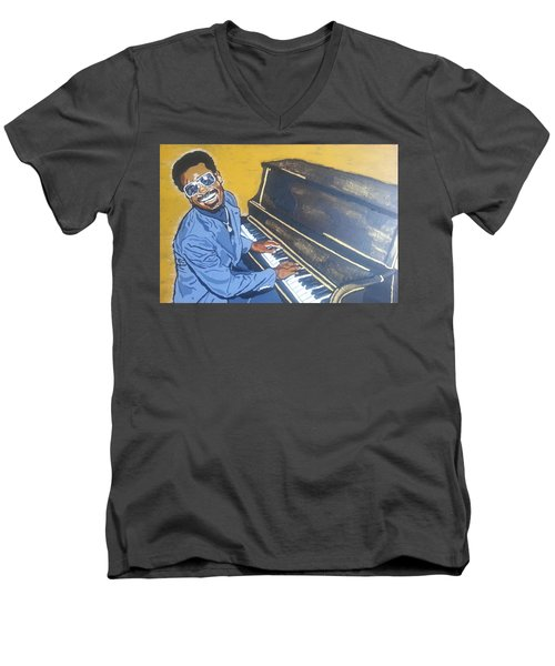 Stevie Wonder Men's V-Neck T-Shirt