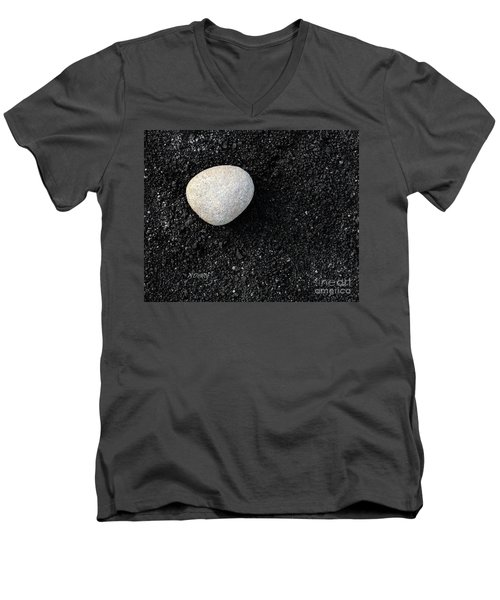Stone In Soot Men's V-Neck T-Shirt