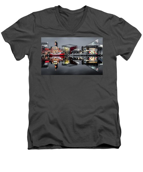 Stormy Night In Baltimore Men's V-Neck T-Shirt