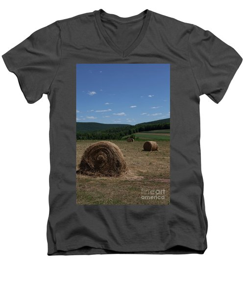 Straw Bales Men's V-Neck T-Shirt