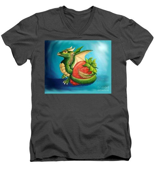 Strawberry Dragon Men's V-Neck T-Shirt