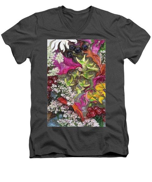 Summer Still Life Men's V-Neck T-Shirt by Vladimir Kholostykh