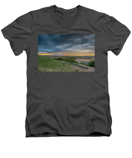Summer Storm Men's V-Neck T-Shirt