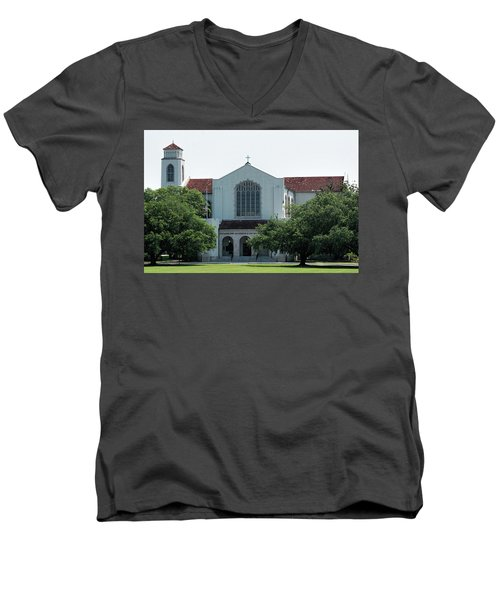 Summerall Chapel Men's V-Neck T-Shirt by Ed Waldrop