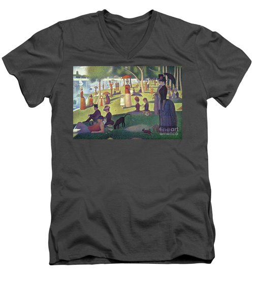 Sunday Afternoon On The Island Of La Grande Jatte Men's V-Neck T-Shirt