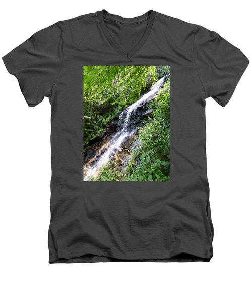 Sunlit Cascade Men's V-Neck T-Shirt