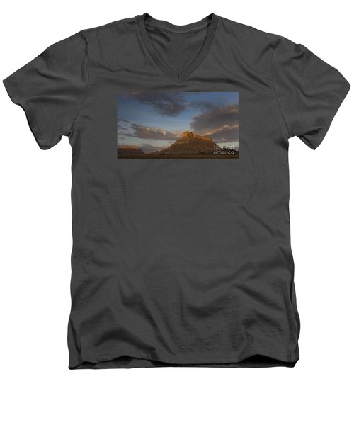 Sunrise Over Factory Butte Men's V-Neck T-Shirt