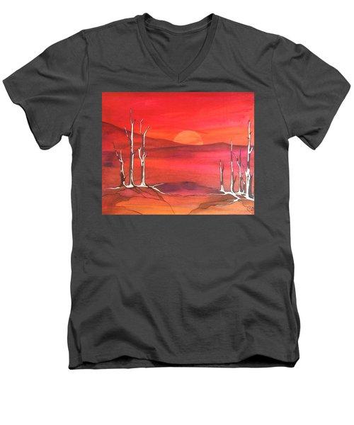 Sunrise Men's V-Neck T-Shirt by Pat Purdy