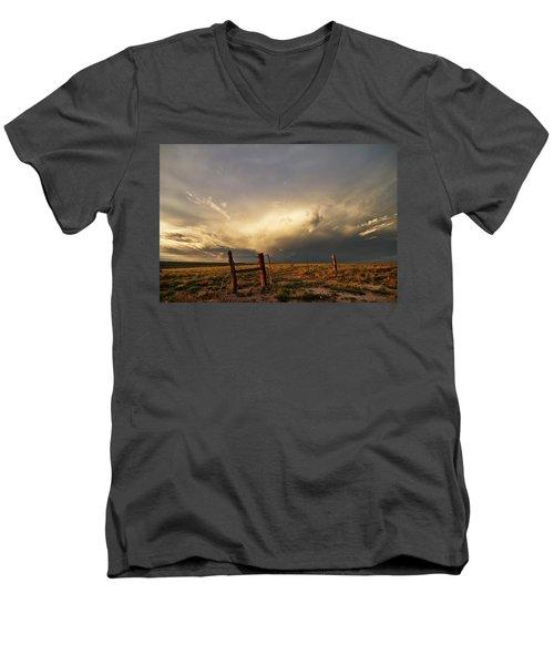 Sunset Near Santa Rosa New Mexico Men's V-Neck T-Shirt
