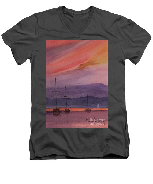 Sunset On Madeline Island Men's V-Neck T-Shirt