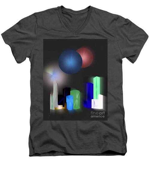 Surreal City Men's V-Neck T-Shirt