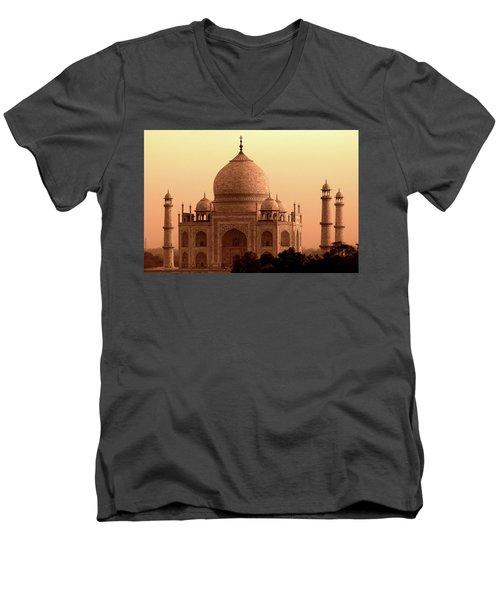 Taj Mahal Men's V-Neck T-Shirt by Aidan Moran