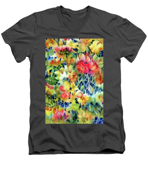 Tangled Blooms Men's V-Neck T-Shirt