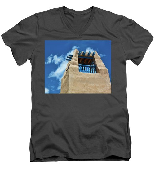 Taos Blue Men's V-Neck T-Shirt