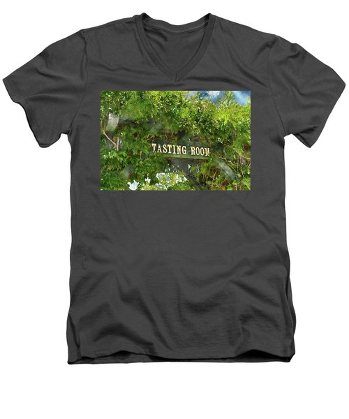 Tasting Room Sign Men's V-Neck T-Shirt